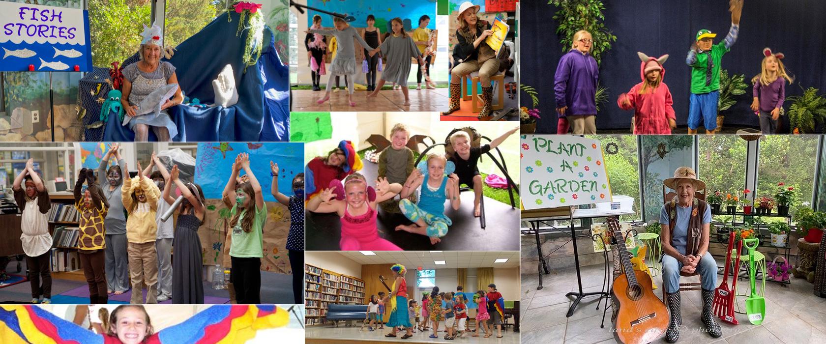 banner storytime treasure time spring summer